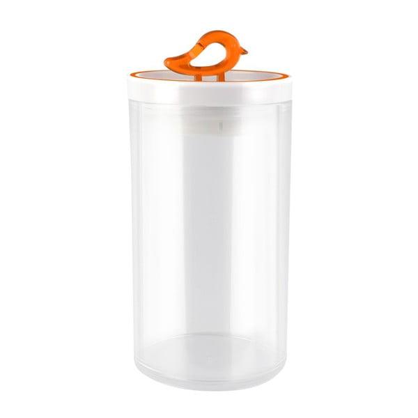Oranžová dóza Vialli Design Livio, 1,2 l