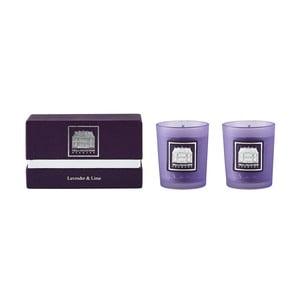 Sada 2 sviečok s vôňou levandule a limetky Villa Collection