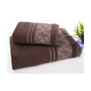Sada uteráka a osušky Saray Brown, 50x90 cm a 70x140 cm