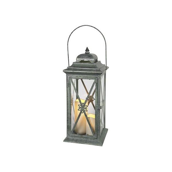 Zelený LED lampáš Best Season Window, 50 cm