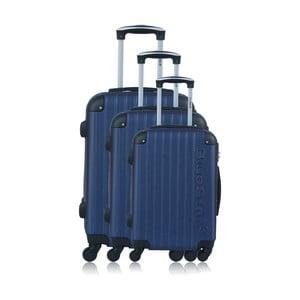 Sada 3 modrých kufrov na kolieskach Blue Star Bucarest