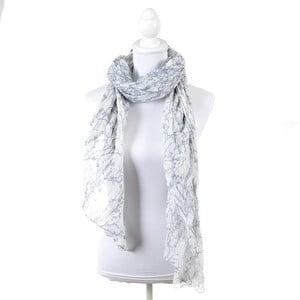 Šatka/pareo BLE Inart 100x180 cm, šedá