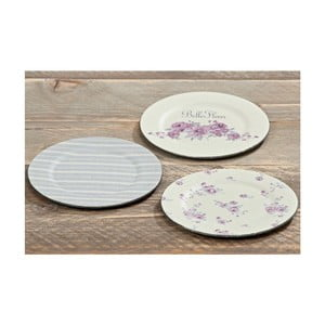 Sada 3 plastových tanierov Fleur