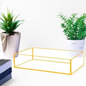 Úložný box s oranžovými hranami Lund London Flash Tidy, 20x13,5cm