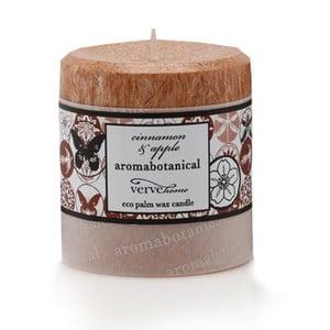 Sviečka z palmového vosku s vôňou škorice a jablka Aromabotanical, doba horenia 16hodín