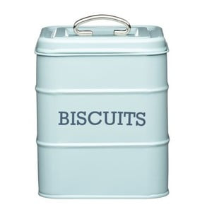 Modrá plechová dóza na sušienky Kitchen Craft Biscuits