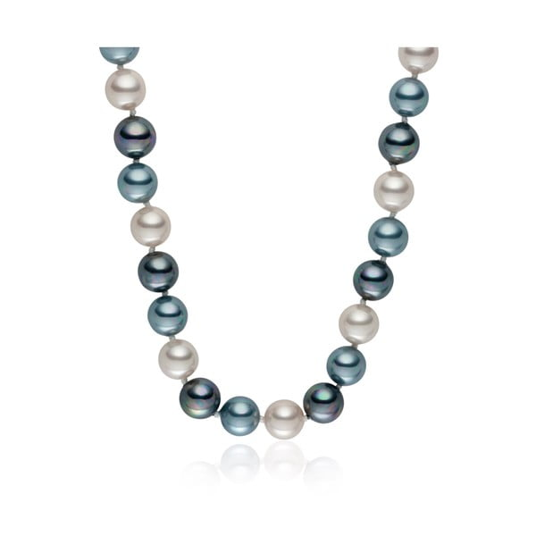 Perlový náhrdelník Pearls Of London Mystic Silver Grey, 50 cm