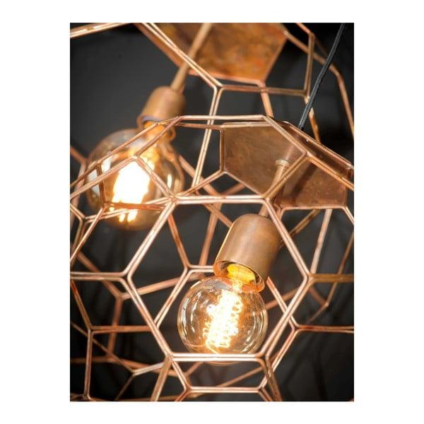 Závesné svietidlo v medenej farbe Citylights Marrakesh, priemer 55 cm