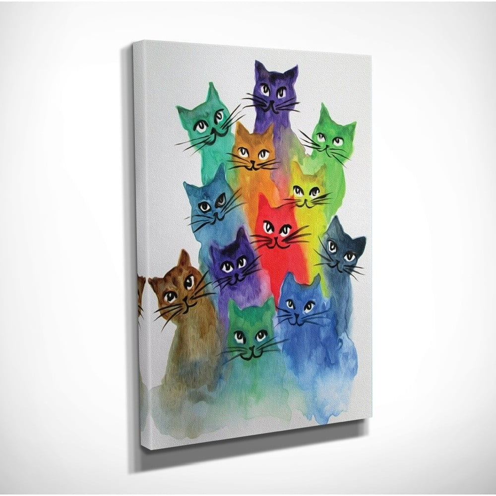 Obraz na plátne Happy Cats, 30 × 40 cm