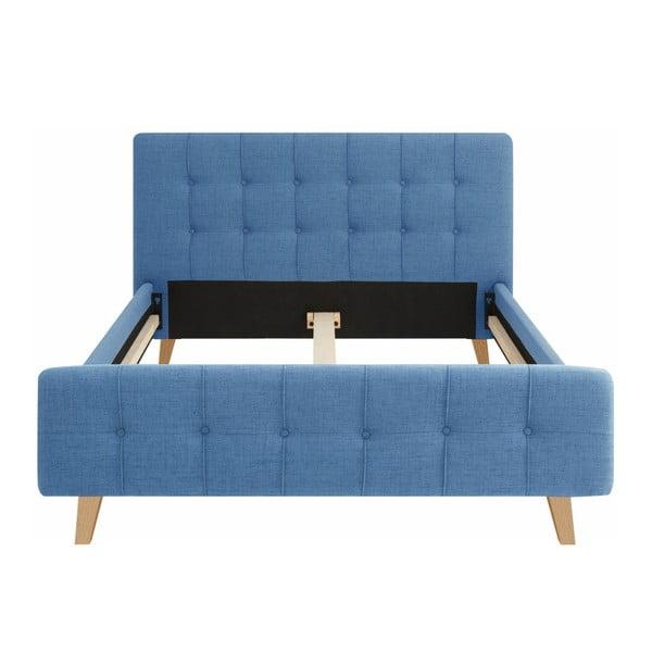 Modrá dvojlôžková posteľ Støraa Limbo, 140×200cm