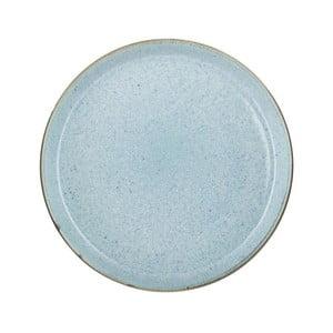 Svetlomodrý kameninový plytký tanier Bitz Mensa, priemer 27 cm
