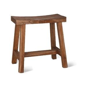 Hnedá stolička z teakového dreva Garden Trading, šírka 30 cm