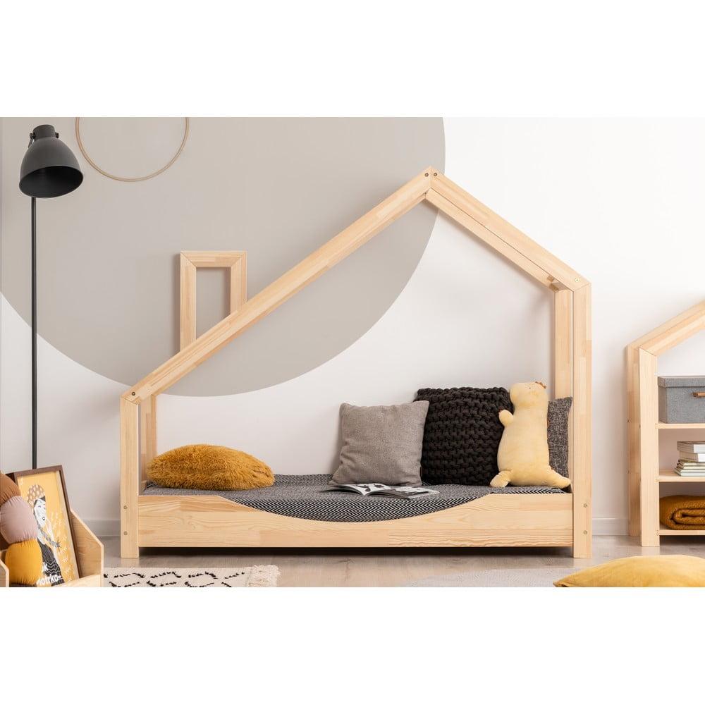 Domčeková posteľ z borovicového dreva Adeko Luna Elma, 70 x 180 cm