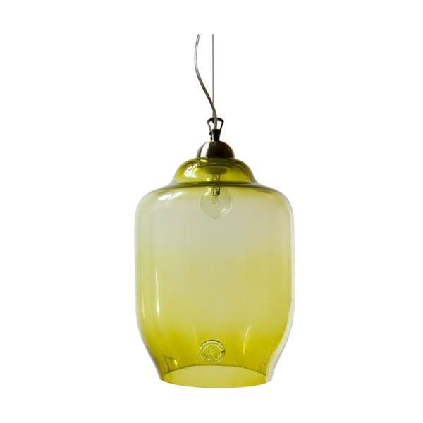 Sklenené svietidlo 40 cm, olivové