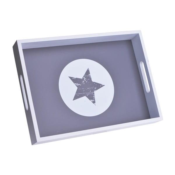 Drevená tácka Star White Circle