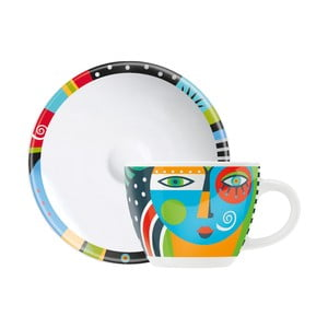 Set porcelánovej šálky a tanierika na espresso Ritzenhoff Christiane Beauregard, 8 cl
