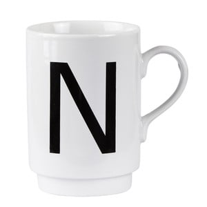 Porcelánový písmenkový hrnček N