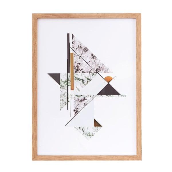 Ilustrácie v ráme Abstract Marble no. 1