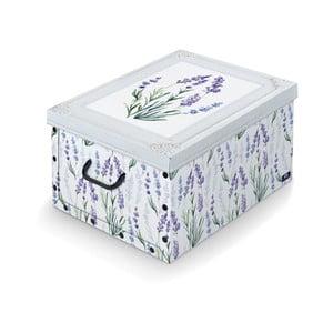 Úložný box s rukojetí Domopak Levanduľa, dĺžka 50 cm
