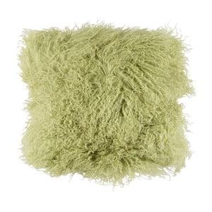 Zelený vlnený vankúš z ovčej kožušiny Auskin Buchanan, 35x35 cm