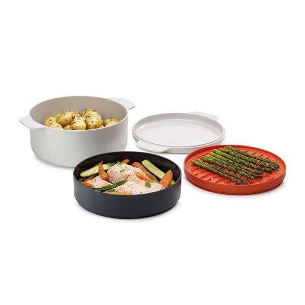 4-dielna sada riadu na jedlo varené v mikrovlnnej rúre Joseph Joseph M-Cuisine