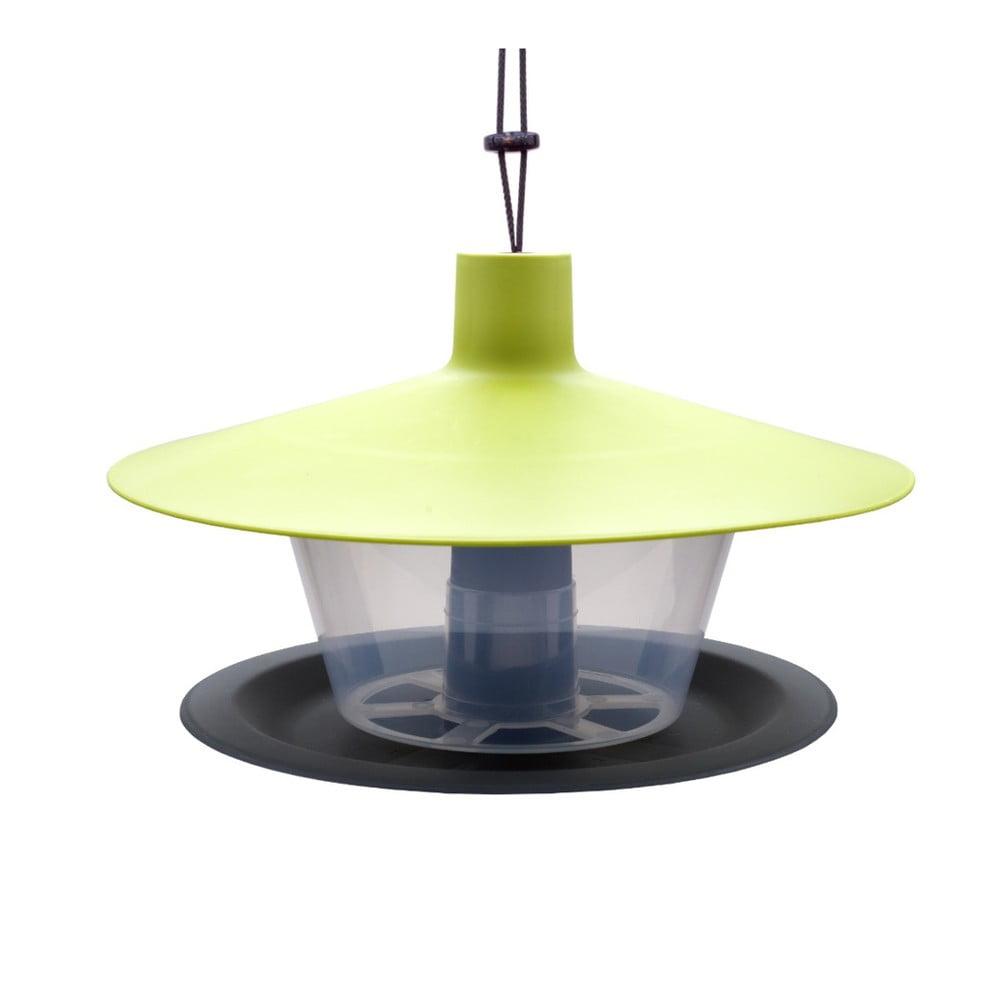 Zeleno-sivé kŕmidlo pre vtáctvo Plastia Finch