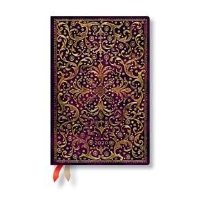 Purpurovočervený diár na rok 2020 v tvrdej väzbe Paperblanks Aurelia, 160 strán