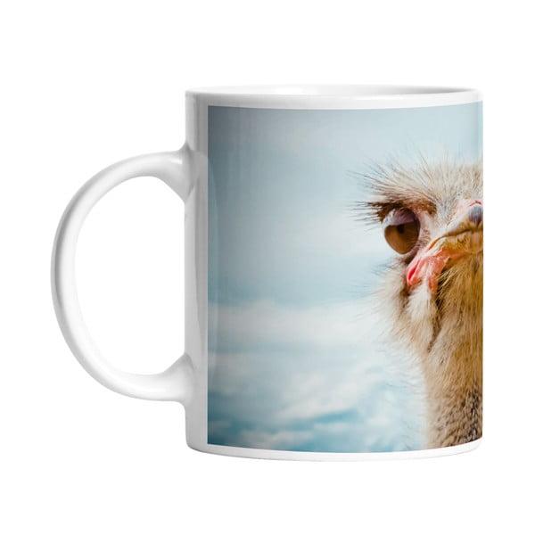 Keramický hrnček Curious Ostrich, 330 ml