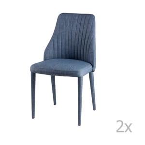 Sada 2 svetlomodrých jedálenských stoličiek sømcasa Dora