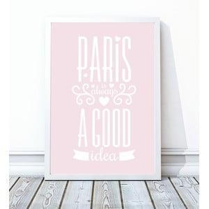 Zarámovaný plagát Paris, 30x40 cm