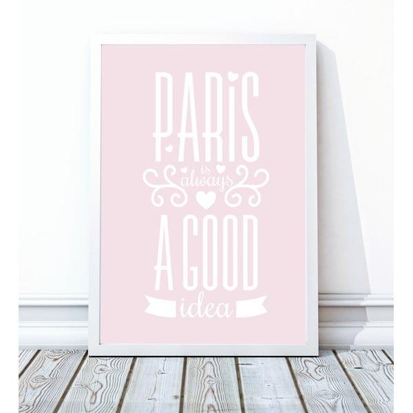 Zarámovaný plagát Paris, 40x50 cm