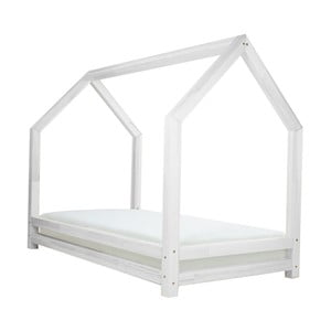 Biela jednolôžková posteľ z borovicového dreva Benlemi Funny, 80 x 160 cm
