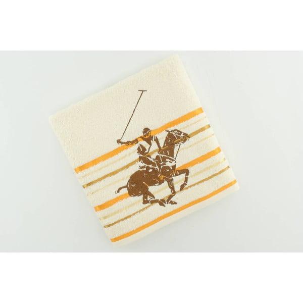 Krémovo-žltý bavlnený uterák BHPC Velvet, 50x100 cm