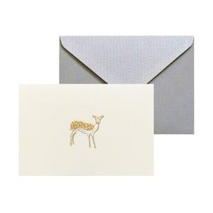 Sada 10 komplimentiek s obálkami Portico Designs FOIL Fawn
