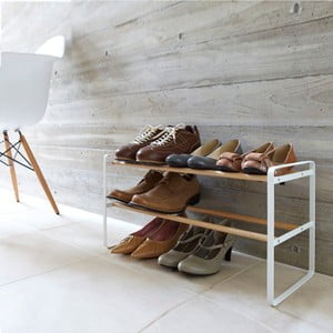 Biely stojan na topánky Yamazaki Shoe Rack 2