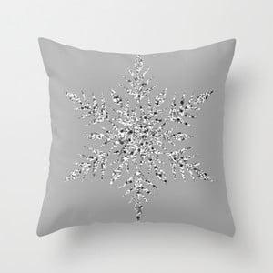 Obliečka na vankúš Snowflake Grey I, 45x45 cm