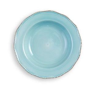 Stredne veľký tyrkysový tanier Brandani