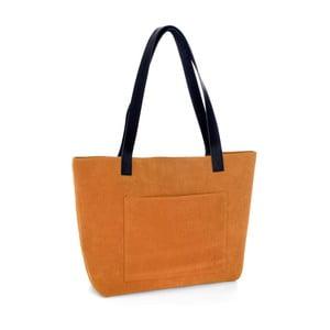 Oranžová kožená kabelka Woox Rostellum