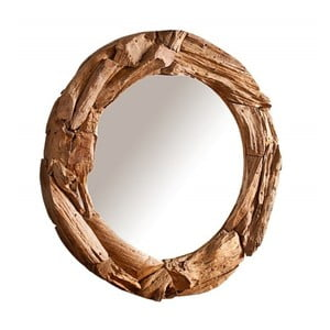 Nástenné zrkadlo z recyklovaného dreva SOB