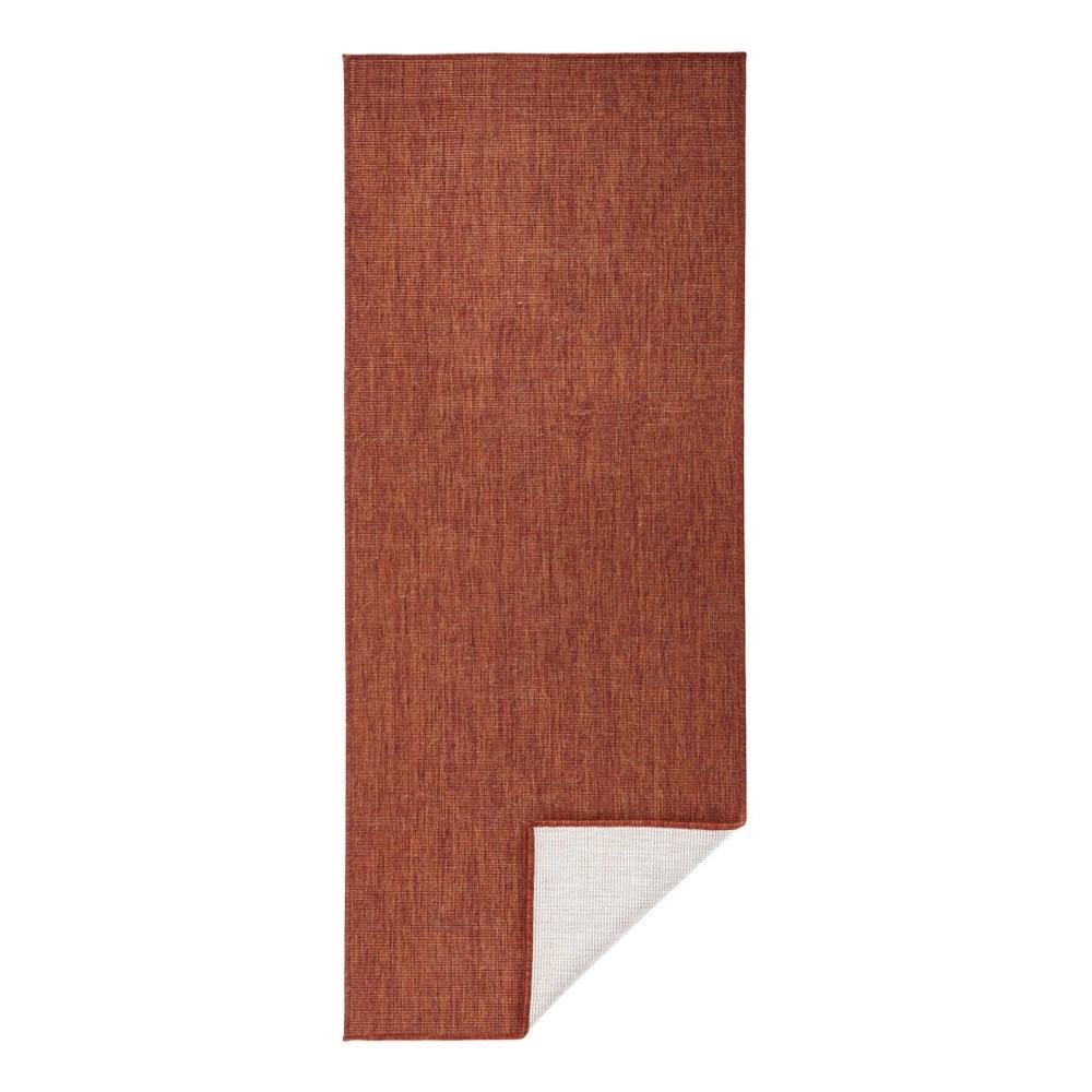 Tehlovočervený vonkajší koberec Bougari Miami, 80 x 250 cm