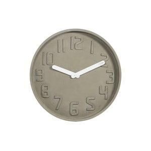 Hodiny Fisura Concrete Blanca, 35cm
