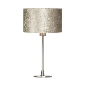 Svetlohnedá stolová lampa z krokodílej kože Creative Lightings Glamour Croco
