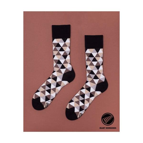 Ponožky Many Mornings Coffee Triangles, veľ.43/46
