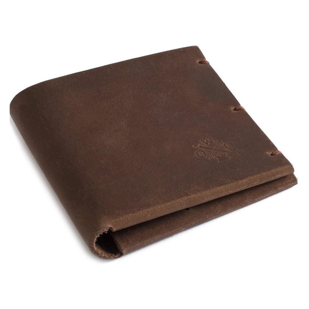 Hnedá kožená peňaženka Woox Maturus Fuscus