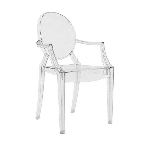 Plastová stolička Kartell Louis Ghost, číra