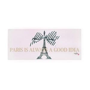 Kovová dekoratívna ceduľa Miss Étoile Paris Rose, 13 x 30 cm