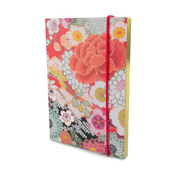 Linajkovaný zápisník A6 Portico Designs Monsoon, 160 stránok