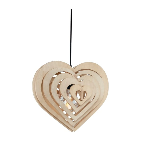 Závesné svetlo Wood Heart