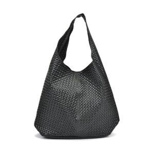 Čierna kožená kabelka Mangotti Bags Eugenia