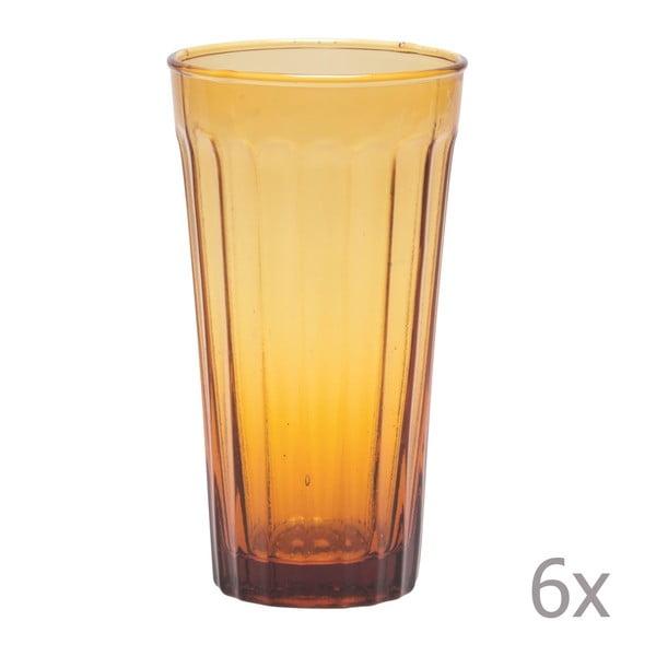 Sada 6 long pohárov Lucca Honey, 500 ml